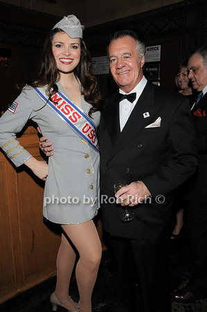 Miss USO Heidi-Marie Ferren, Tony Sirico <br /> photo by Rob Rich © 2009 robwayne1@aol.com 516-676-3939