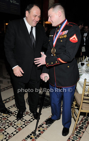 James Gandolfini, LCPL Matthew R. Bradford<br /> photo by Rob Rich © 2009 robwayne1@aol.com 516-676-3939