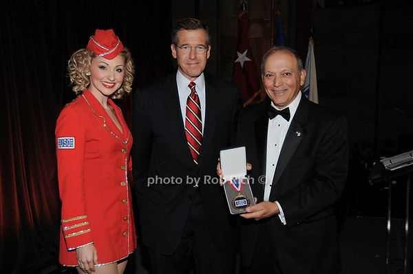 Lexi Windsor, Brian Williams, Nick Albano jr.(Volunteer of the Year Award recepient)<br /> photo by Rob Rich © 2009 robwayne1@aol.com 516-676-3939