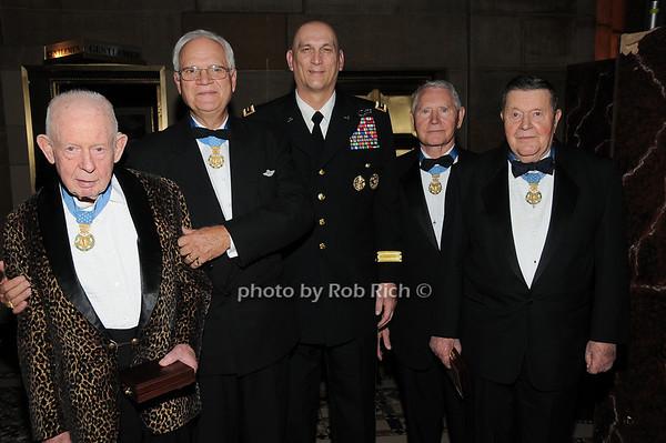 Col Bernard F. Fisher,Col James P. Fleming, General Raymond T.Odierno, Col Leo K. Thorsness, Col Joe M. Jackson<br /> photo by Rob Rich © 2009 robwayne1@aol.com 516-676-3939