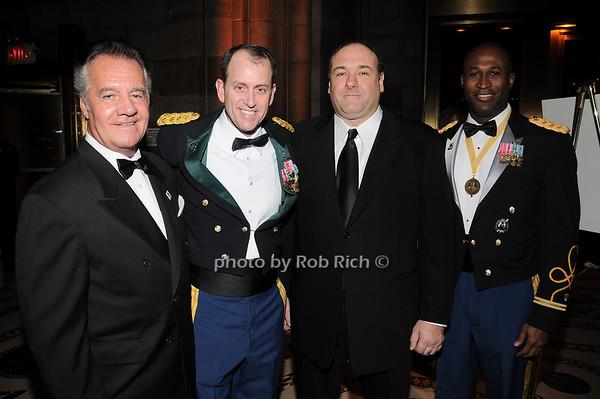 Tony Sirico, Harry Woodmansee, James Gandolfini, Omuso George <br /> photo by Rob Rich © 2009 robwayne1@aol.com 516-676-3939