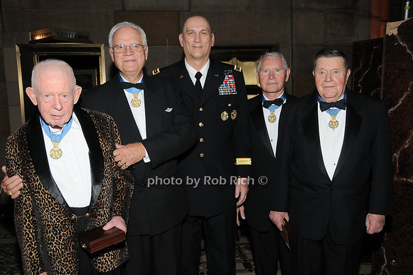 Col Bernard F. Fisher,Col James P. Fleming, General Raymond T.Odierno, Col Leo K. Thorsness, Col Joe M. Jackson<br /> photo by Rob Rich © 2009 robwayne1@aol.com 516-676-3939