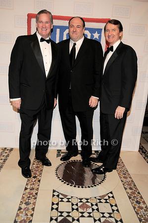 Rich Wilson, James Gandolfini, Bill Wilson<br /> photo by Rob Rich © 2009 robwayne1@aol.com 516-676-3939