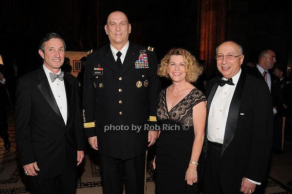 Patrick Condren, General Raymond T.Odierno Linda Odierno, Stephen Scheffer<br /> photo by Rob Rich © 2009 robwayne1@aol.com 516-676-3939