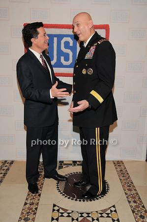 Stephen Colbert, General Raymond T.Odierno<br /> photo by Rob Rich © 2009 robwayne1@aol.com 516-676-3939