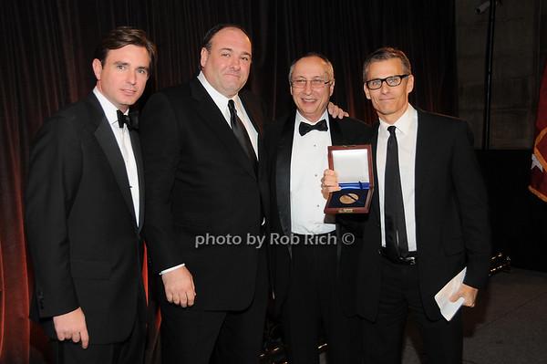 Brian Whitting, James Gandolfini, Steve Sheffer, Michael Lombardo (HBO) honoree<br /> photo by Rob Rich © 2009 robwayne1@aol.com 516-676-3939