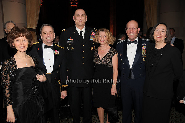 Patricia Monk, Maj. General William Monk, General Raymond T.Odierno,  Linda Odierno, Commander of NORAD Gene Renuart, Jill Renuart<br /> photo by Rob Rich © 2009 robwayne1@aol.com 516-676-3939