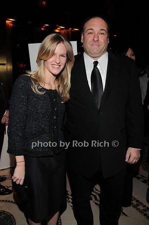Caroline Wilson, James Gandolfini<br /> photo by Rob Rich © 2009 robwayne1@aol.com 516-676-3939