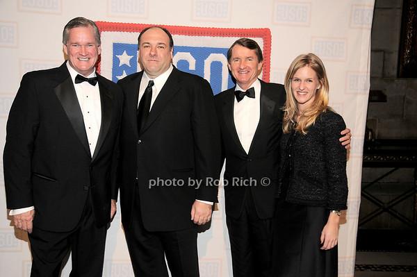 Rich Wilson, James Gandolfini, Bill Wilson, Caroline Wilson<br /> photo by Rob Rich © 2009 robwayne1@aol.com 516-676-3939