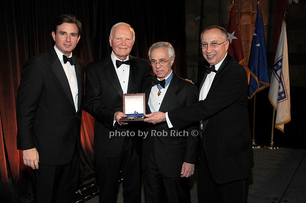 Brian Whitting, Bruce N. Whitman(USO Distinguished Service Award recepient) Jack Jacobs, Steve Scheffer<br /> photo by Rob Rich © 2009 robwayne1@aol.com 516-676-3939