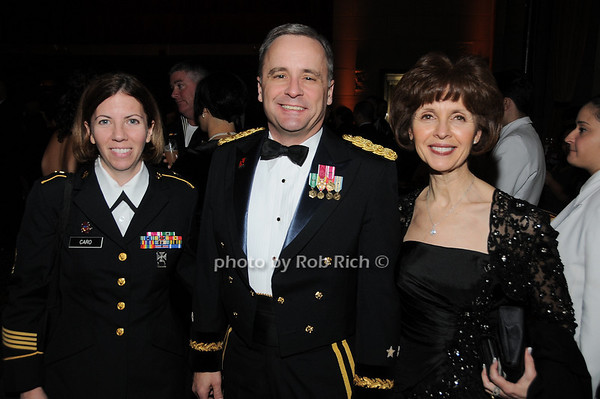 Sargent Caro, Maj. General William Monk, Patricia Monk<br /> photo by Rob Rich © 2009 robwayne1@aol.com 516-676-3939