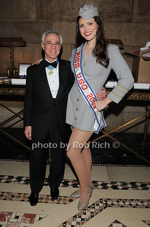 Jack Jacobs, Miss USO Heidi-Marie Ferren,<br /> photo by Rob Rich © 2009 robwayne1@aol.com 516-676-3939