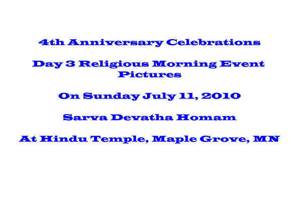4th Anniversary Celebrations - Day 3 - Religious - Morning