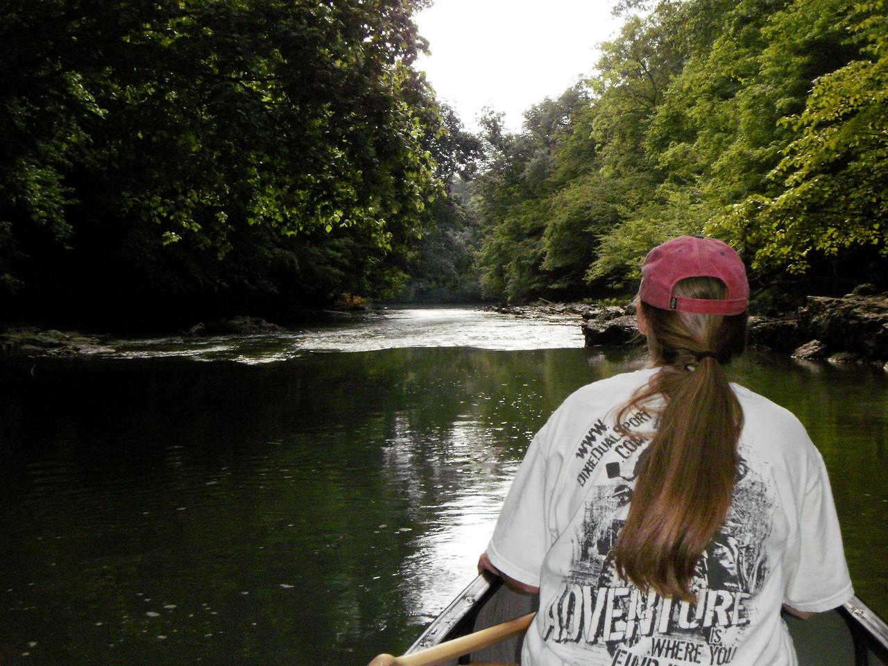 Coming down Euharlee Creek to mouth of Etowah