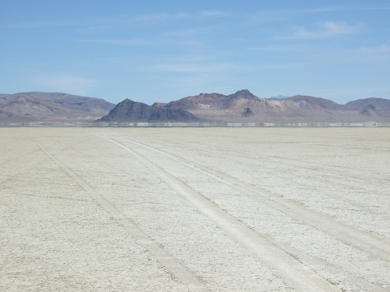 The Black Rock after which the playa was named.