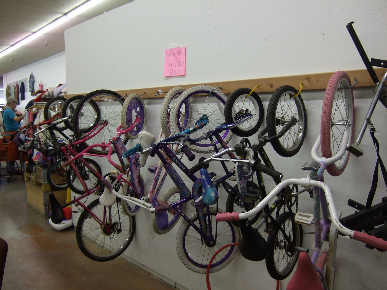 Bikes at the Washoe ARC Thrift Store at Kietzke Lane