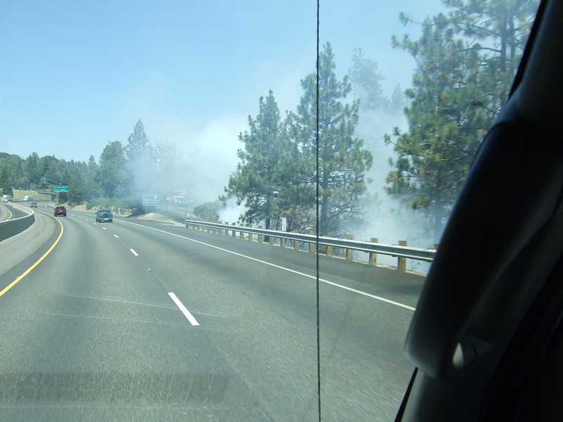 There was some smoke on the road, but not enough to impair visibility.