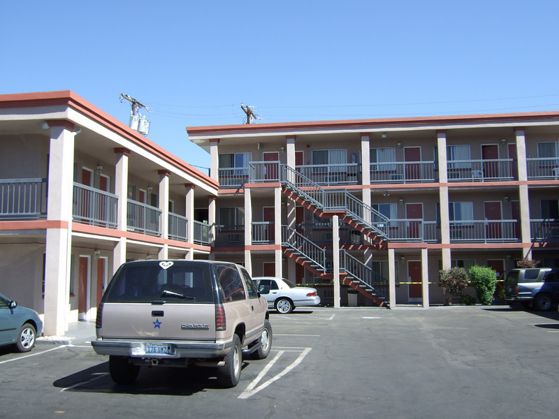 The Travel Lodge in Reno is now the Desert Rose, and it's gotten a fresh coat of paint.