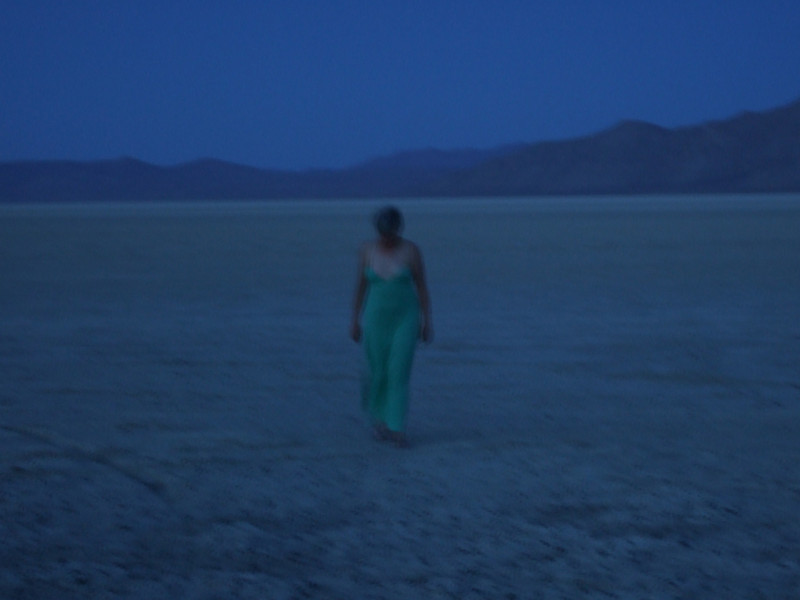 A ghostly presence on the playa.