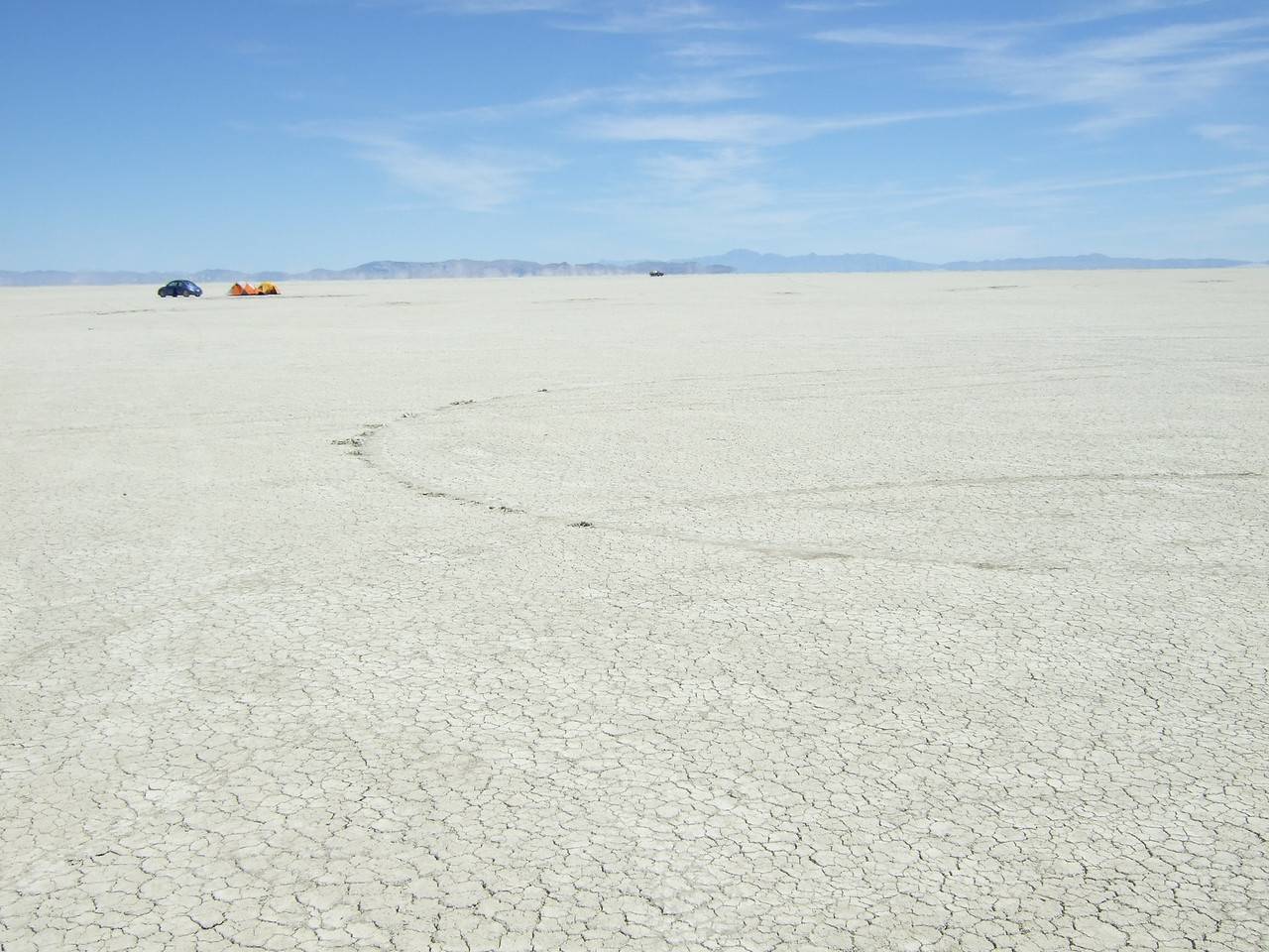 View of the playa from Center Camp, 2007.