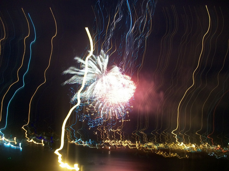 Captured these fireworks while sitting in some friends' backyard overlooking the Bay. I think this looks pretty neat-o (as Cari would say).