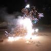 Fun driveway fireworks.