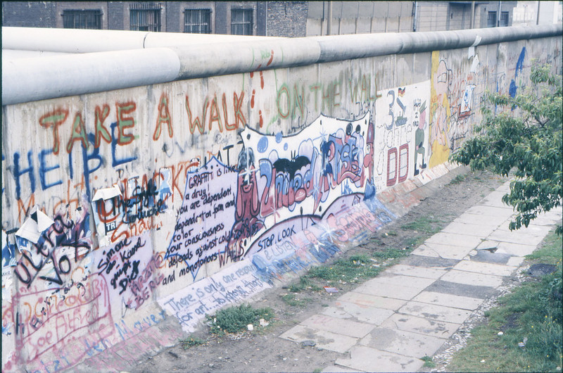 Graffiti along the Berlin Wall in Berlin, Germany