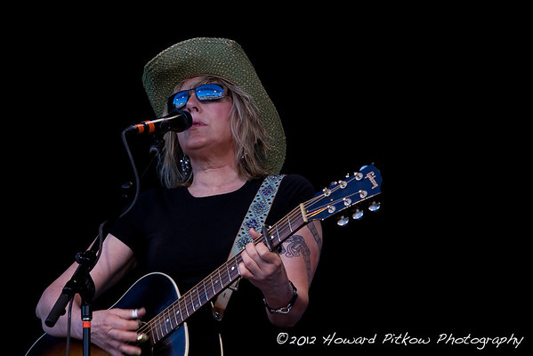 Lucinda Williams performing on Saturday night from main stage. (Howard Pitkow/for Newsworks)
