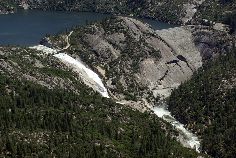 The Spillway and the Dam at Mammoth Pools