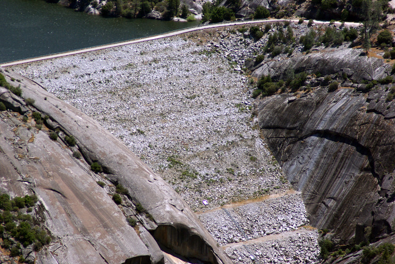 A close-up of the Dam