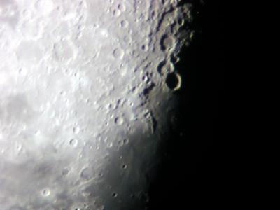 Photo taken of the Moon on Dec 1, 2004.  6 inch f-10 refracting telescope. Nikon 990 Camera .