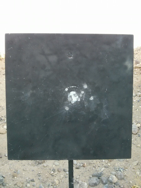 10 shots on the 600 yards steel.<br /> <br /> 3 shots out in the 9 Ring, 3 shots in the X Ring... 97-3X.