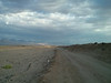 Cloudy, making it fairly humid.<br /> <br /> This is the view down the road that leads out to 400, 500 and 600 yards steel.