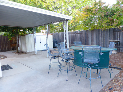 backyard including storage shed