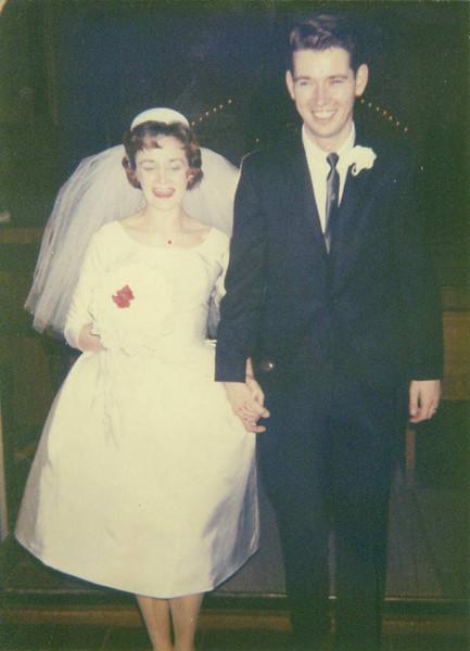 Wedding day of Pauline Alice (Desrosiers)Parker and Dan Adkins Parker