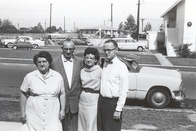 Grandma Gwen Gardner Nebeker, Grandpa Enoch Harmer Havens-Nebeker, Aunt Elva Darlene Nebeker Smith, Uncle Don Smith (Died a few years later)
