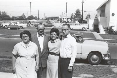Grandma Gwen Gardner Nebeker, Grandpa Enoch Harmer Havens-Nebeker, Aunt Elva Darlene Nebeker Smith, Uncle Don Smith (Died a few years later)