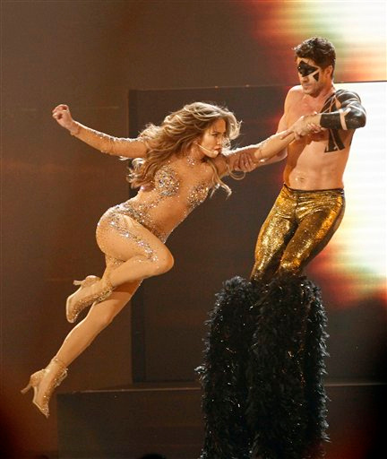 . Jennifer Lopez performs at the 39th Annual American Music Awards on Sunday, Nov. 20, 2011 in Los Angeles. (AP Photo/Matt Sayles)