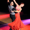 Don Knight / The Herald Bulletin<br /> Zach Kerr dances the tango with Kim Chastain during the Dancing Like the Stars Benefit at the Paramount on Saturday.