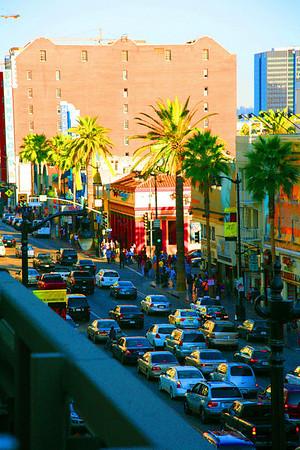 Лос Анжелес.Вечер на  Аллея ЗВЁЗД
