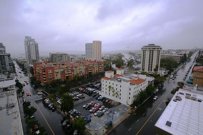 Центр San Diego. После затяжного ливня.