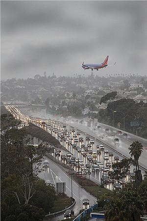 Тропический ливень над San Diego. 2012г.