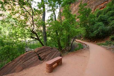 Скамейка для влюблённых...( на дне ZION Canyons National Park) 2008
