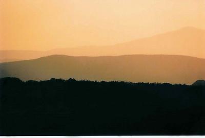 Вечер над пустыней. (окрестности Лас Вегаса). 2003г.