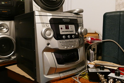 I have several stereo systems like this one.  Most are around $20 or less,  It came with speakers too.