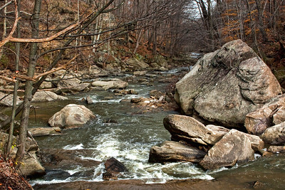 Down the river from Berea Falls