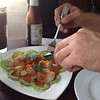 Raw shrimp at Ayada Thai in Elmhurst
