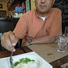 Eating durian at Durian in Larchmont
