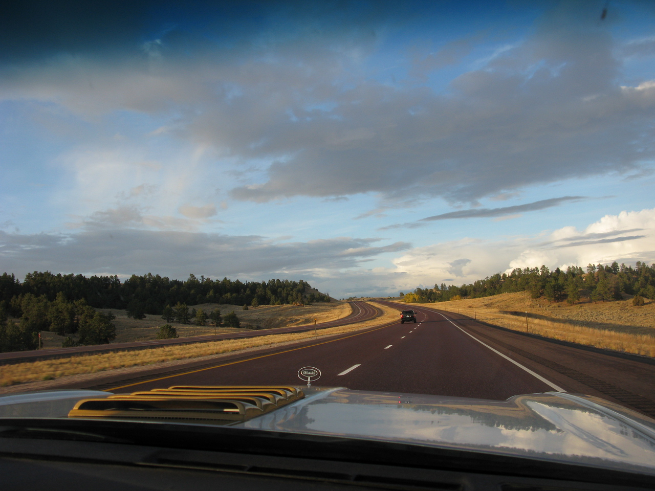 """Back on the road! Afternoon in Eastern Wyoming headed north to Billings. Changed route as its more poulated via the northern route and I was worried about the """"next issue"""" if there was to be one......"""
