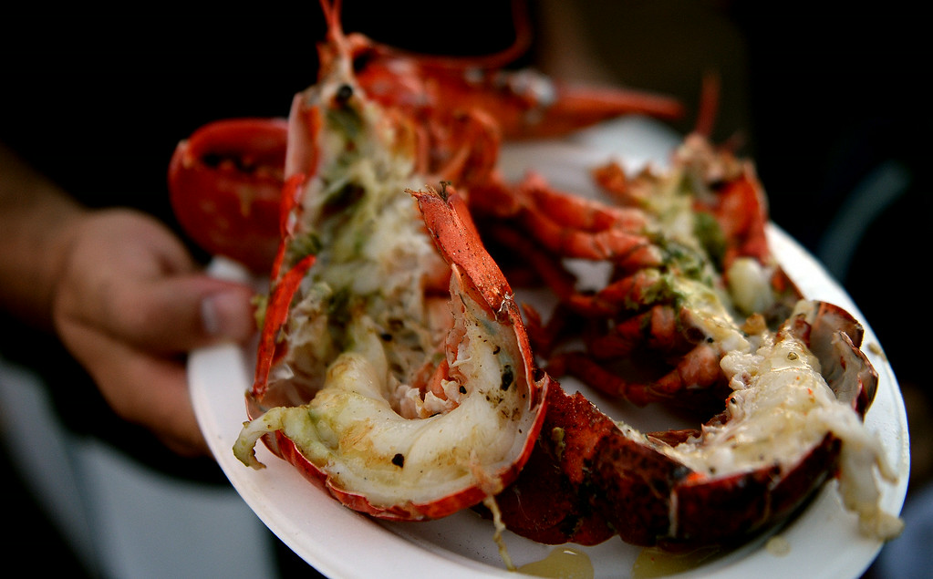 . A whole lobster during the 626 Night Market at Santa Anita Park in Arcadia, Calif., on Saturday, Aug. 16, 2014.  (Photo by Keith Birmingham/ Pasadena Star-News)